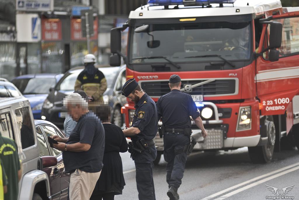 Trafikolycka i centrala Örebro