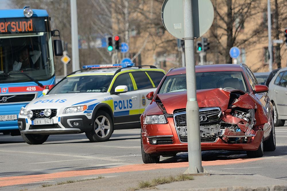 Trafikolycka på Östra Bangatan