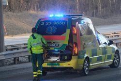 Trafikolycka på E20