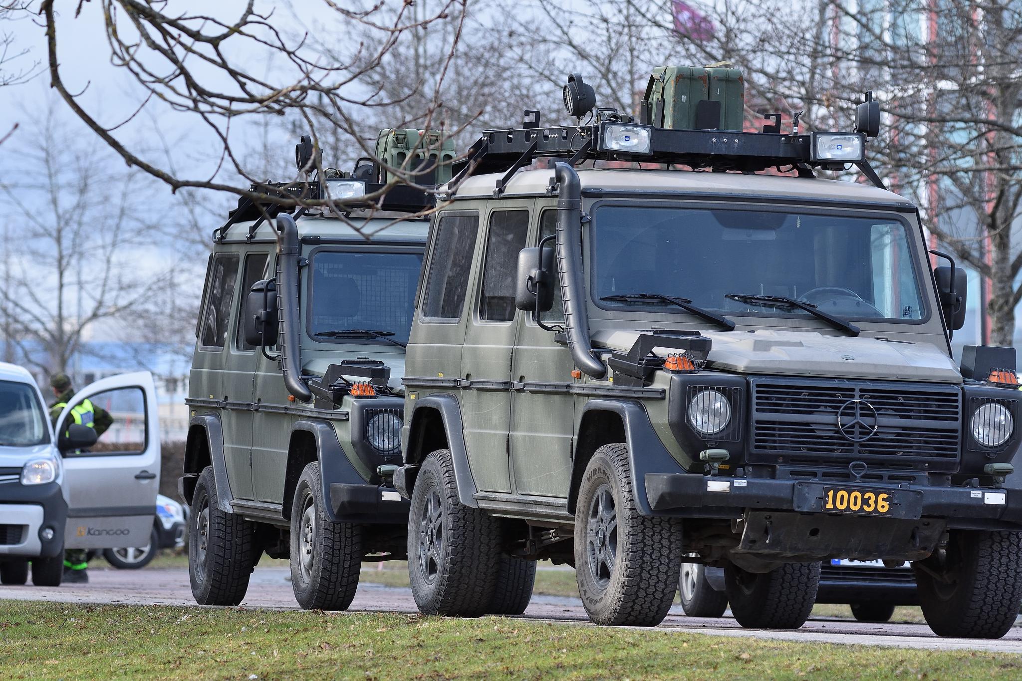 Trafikonroll polis och militär