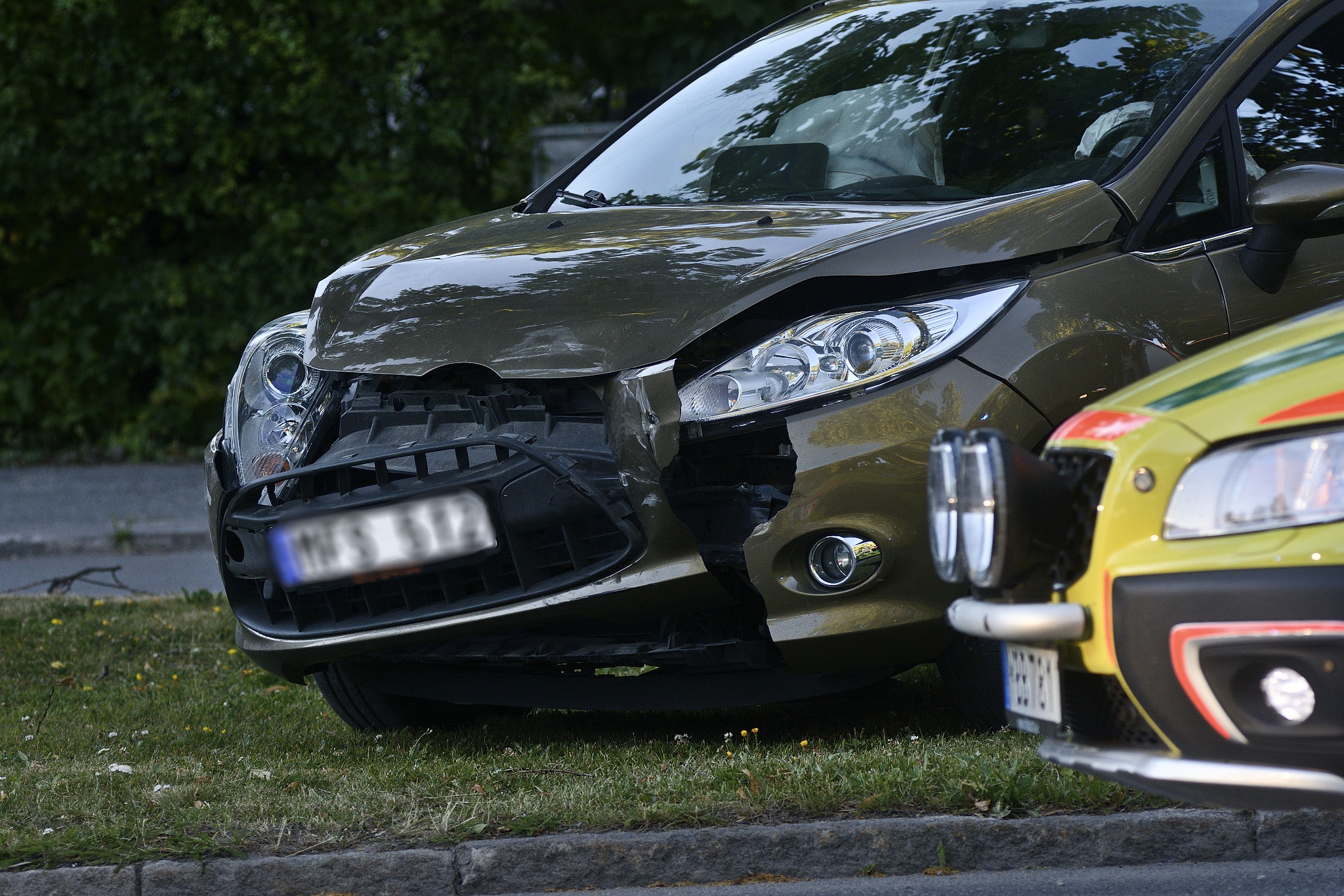 Trafikolycka på Oskarsvägen